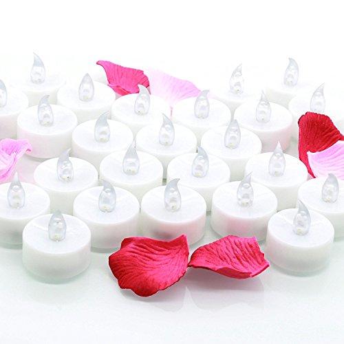 Conmemorativa LED Velas con temporizador, meiso 12unidades LED teelichter con temporizador, 6horas a y 18horas de, Eléctrico flackernde batteriebetriebene velas, luz ámbar