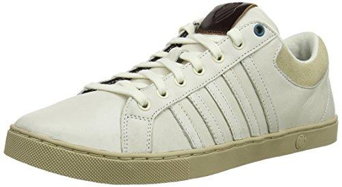 K-Swiss Adcourt '72 So P M, Baskets Basses homme Blanc (White/Beige)