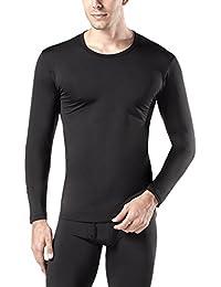 LAPASA Uomo T-Shirt Termica Pacco da 2 –Ti Tiene al Caldo Senza Stress- Intimo Maniche Lunghe Invernale Lightweight M09