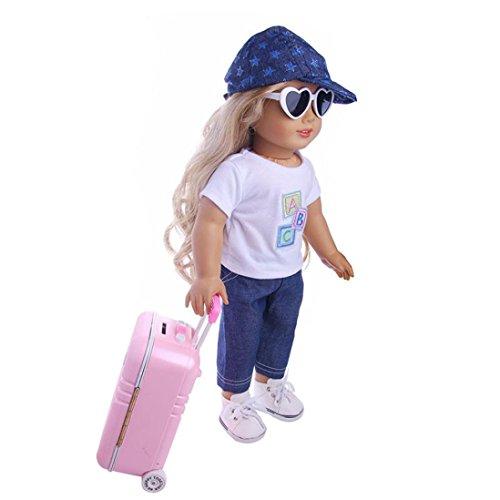 ferraumtasche für 45,7 cm Our Generation American Girl/Boy Puppe, Damen, Silber, Size:About 16 * 11 * 7cm ()