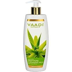 Vaadi Herbals Aloevera Deep Pore Cleansing Milk with Lemon Extract, 350g