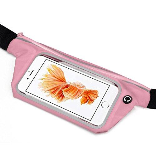 Malloom Deportes correr Gym cintura cinturón bolsa de funda para iPhone 6S 4.7 Inch (rosa)