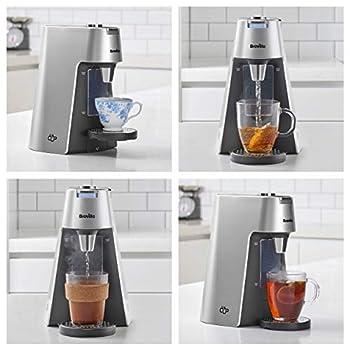 Breville VKT111 HotCup Hot Water Dispenser, 3 kW Fast Boil, Variable Dispense & Height Adjust, 2.0 Litre, Silver