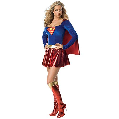 Superman Halloween Kostüm - JRKJ Superwoman Costume_Halloween Sexy Lackleder Mantel Weiblichen Superman Kostüm Cosplay Cosplay Uniform @ XL