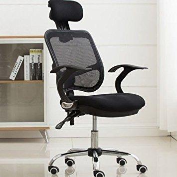 FEMOR Chaise Fauteuil de bureau Chaise pivotante pour ordinateur hauteur réglable (noir)