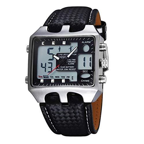 7e5ddfc8f368 Mens OHSEN Double Affichage Lumineux Sports de Plein air Alpinisme Montre  de Mode créative électronique