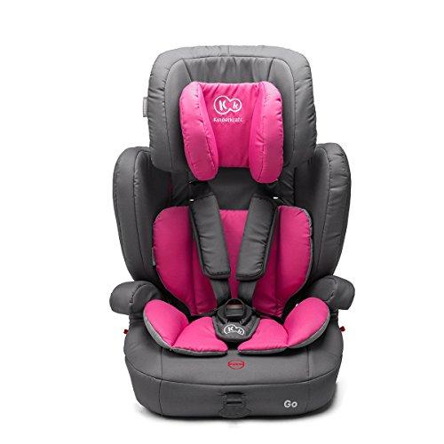 Kinderkraft GO Kinderautositz Kindersitz Autokindersitz 9 bis 36 kg Gruppe 1 2 3 Rosa