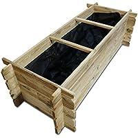 Hochbeet Ando aus Holz 120x60x30cm Bausatz inkl. Folie von Nordje® aus Kiefer KDI