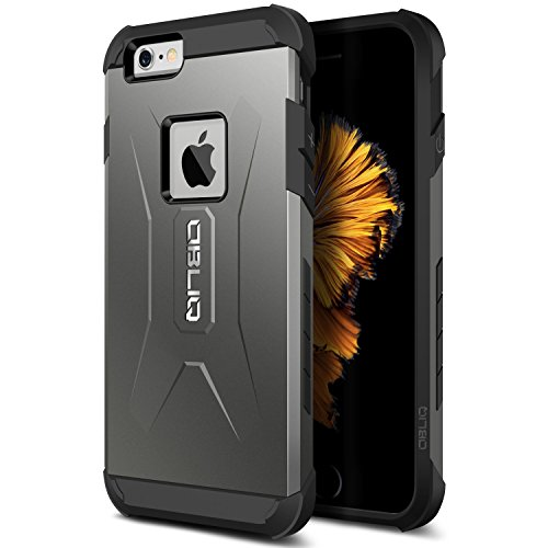 1bb211b99cd iPhone 6S Case, OBLIQ [Xtreme Pro][Gun Metal] Hybrid Rugged Dual Layered  All-Around Shock Slim Resistant TPU Armor Shock Resistant Case for Apple iPhone  6S ...