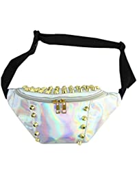 Mily Silver Hologram Fanny Pack Laser Fanny Pack Perfect For Raves And Festivals Rivet