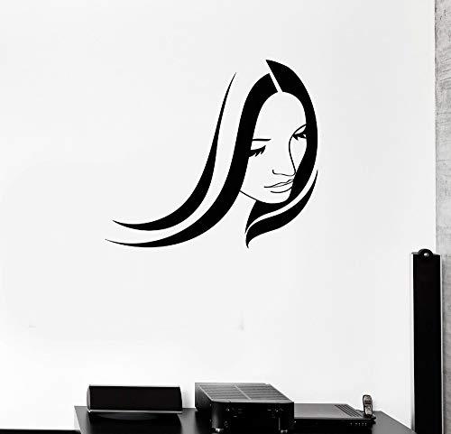 Vinyl Aufkleber Beauty Salon Frau Mädchen Friseur Spa Wandaufkleber Wandbild 76cm x 86cm (Giant Frauen Rennrad)