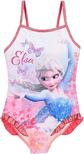 Disney Frozen Mädchen Badeanzug Zwei Stück, Rosa, 4 Jahre (Mädchen Frozen Bikini)