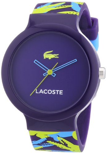 Lacoste - 2020061 - Montre Mixte - Quartz Analogique - Cadran Multicolore - Bracelet Silicone Multicolore