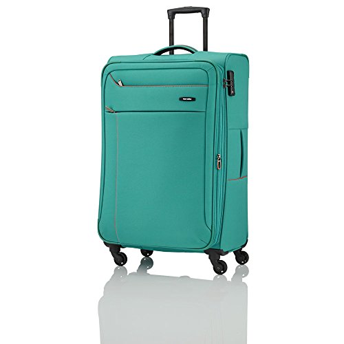 SOLARIS 4 Rad Trolley L, erweiterbar, Aqua/Orange, 88149-25