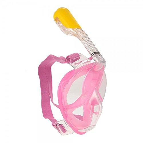Alert 7720008 - Schnorchelmaske, Vollmaske, Tauchmaske mit Anti-Fog und Anti-Leck-Technologie und 180 Grad Blickfeld für Kinder (rosa)