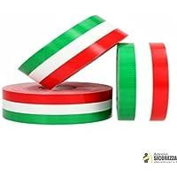 StickersLab Cinta adhesiva tricolor con la bandera de Italia, a rayas, en 4 medidas 2,5cm, Lunghezza - 1 metro