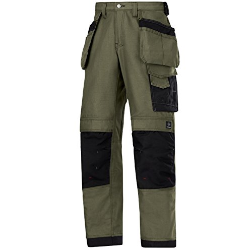 Snickers Canvas+ Hose, Olive Gr. 152