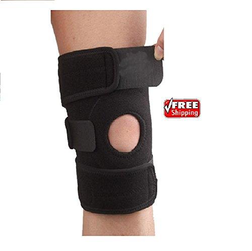 in-neoprene-patella-nero-elastico-knee-brace-fastener-supporto-guard-palestra-sport-sollievo-dal-dol