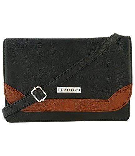 Fantosy-Women-Sling-Bag-FNSB-057-Black-and-Brown
