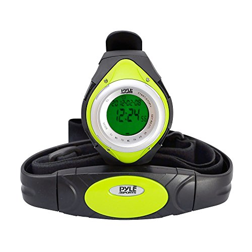 Pyle, Cardiofrequenzimetro con misura calorie, Verde