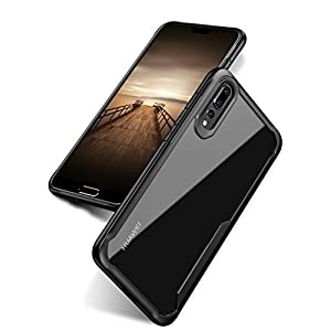 Bounceback Robust Series Huawei P20 Pro Shock Proof Anti Slip Clear Transparent Soft TPU Back Cover Case for Huawei P20 Pro - Charcoal Black