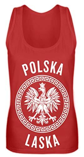 Polen Frauen Trikot Emblem Adler Wappen Fahne Polnische Flagge Polska Laska Geschenk - Frauen Tanktop -S-Rot -