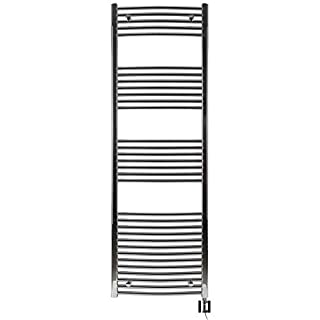 Anapont Electric Towel Rail Chrome Curved High Quality in Various Sizes Available including Heating Element and Heating Ktx 4, Towel Rail, Towel Dryer (1775h x 500b)