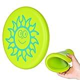Towinle 【Neue Version】 Frisbee, Frisbee für Kinder Frisbeescheibe Softe Wurfscheibe Weiches Frisbee Verdickte Frisbee mit Cartoon Muster für Kinder Sport (Grün)