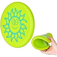 ToWinle Frisbee, 【 Nueva versión 】 Frisbee para niños Frisbi Soft softshield Frisbi suave addensato Frisbi con diseño Cartoon para Niños Sport