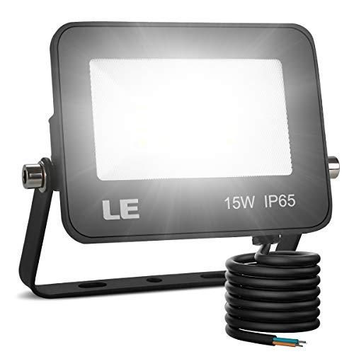 LE Foco LED 15W, 1500 lúmenes, IP65 resistente al agua, Foco LED...