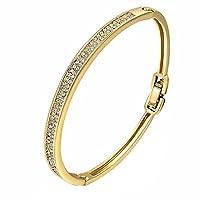 Elegant Stylish Hand Chain Charm Bracelet Women's Jewelry Special Plated Bling 18K Gold Plating Rhinestone Simple