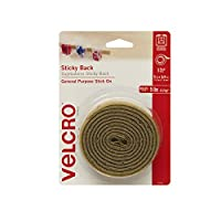 Velcro(r) Brand Fasteners 3/4-inch x 5 ft Sticky Back Tape, Beige