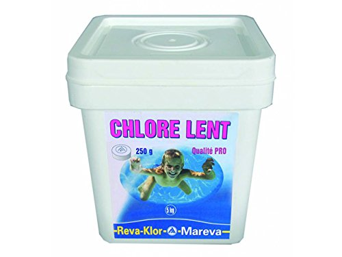 Galet de chlore lent 250g REVA-KLOR seau 5kg