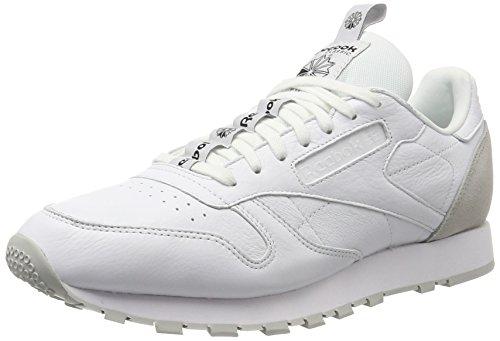 Reebok Herren Classic Leather It Sneaker Weiß (bianco / Teschio Grigio / Nero)