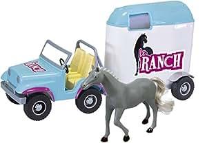Lansay - 18109 - Figurine - Bande Dessinée - Le Ranch : 4X4 Et Remorque
