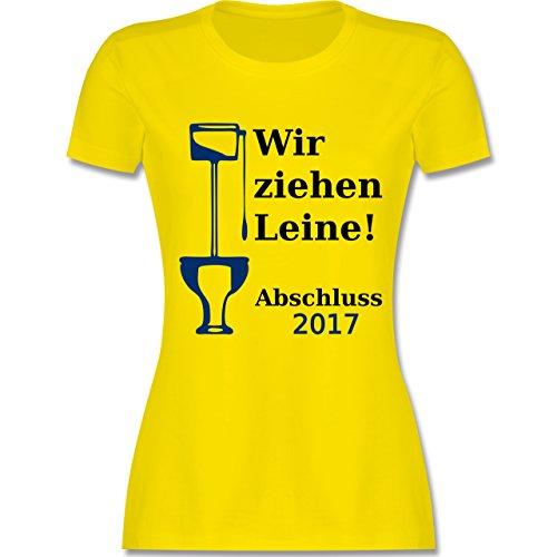 Abi & Abschluss - Wir ziehen Leine - Abschluss 2017 - tailliertes Premium T-Shirt mit Rundhalsausschnitt für Damen Lemon Gelb
