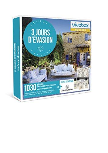 Vivabox - Coffret cadeau couple - 3 JOURS D'EVASION - 1030 week-ends :hôtels 3*ou4*+...