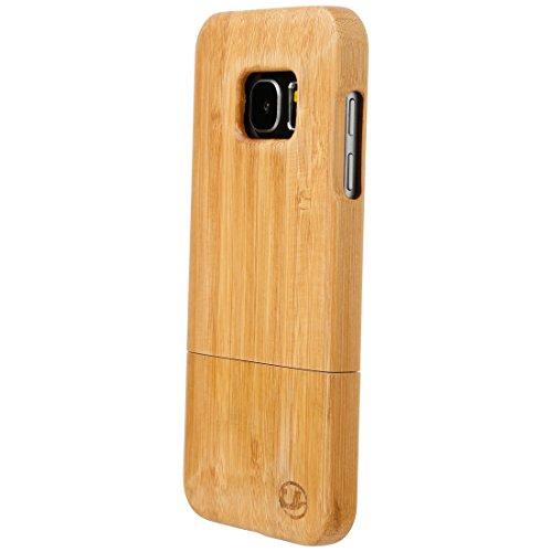 Ultratec Custodia per Smartphone Samsung S7, Cover in Legno Naturale, Legno di bambù