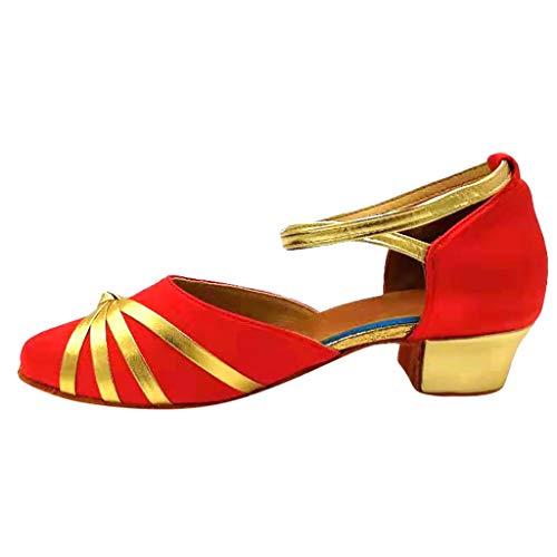 LILIGOD Kinder Mädchen Tanzschuhe Prinzessin Dancing Ballroom Tango Latin Dance Schuhe Übungsschuhe Einzelne Schuhe Trainingsschuhe Bequeme rutschfeste Schuhe Sandalen High Heels -