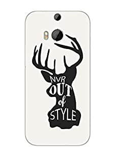 Justgirlythings Swag Never Out Of Style Hard Back Case Cover For Htc One M8 Matte Finish