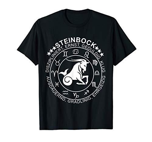 Sternzeichen Steinbock T -Shirt Geburtstag Horoskop Shirt