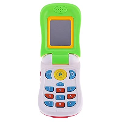 MagiDeal Random one Kids Musical Phone Toy with Mirror Learning Educational Toy for Baby Toddler