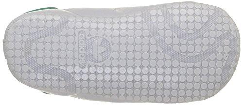 adidas Stan Smith Crib, Chaussures Bébé marche bébé garçon Blanc (Ftwr White/Ftwr White/Green)