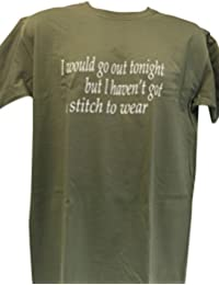 Blue Bagal Mens The Smiths T Shirt 'I Would Go Out Tonight, but I haven't Got A Stitch to Wear' This Charming Man