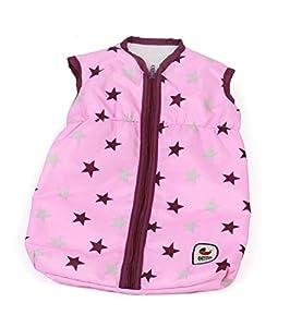 Bayer Chic 2000 792 78 - Saco de Dormir para muñecas, diseño de Estrellas, Color Rosa
