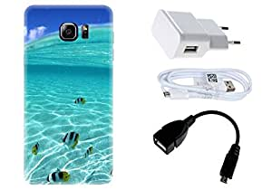 Spygen Samsung Galaxy Note 5 Combo of Premium Quality Designer Printed 3D Lightweight Slim Matte Finish Hard Case Back Cover + Charger Adapter + High Speed Data Cable + Premium Quality OTG