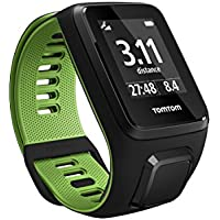Tom Tom Runner 3 GPS Running Watch - Small Strap, Black/Green