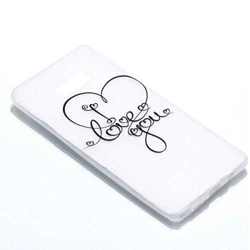 Ecoway Apple iphone X Housse Silicone,Slim Etui Noctilucent Coque TPU pour Silicone Protection pour Apple iphone X Soft Gel Case Cover Etui -Carillons bleus JE T'AIME