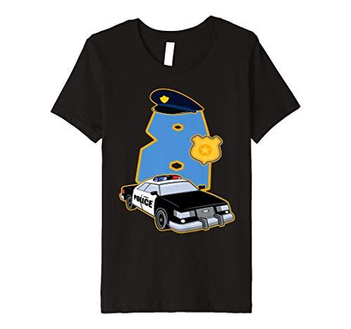 Polizist T-Shirt 8 Jahre Polizei Auto Kostüm ()