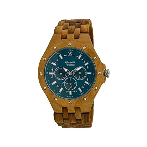 Reloj Madera Wood Watch Green Time by ZZero – Multifunction – zw039 a